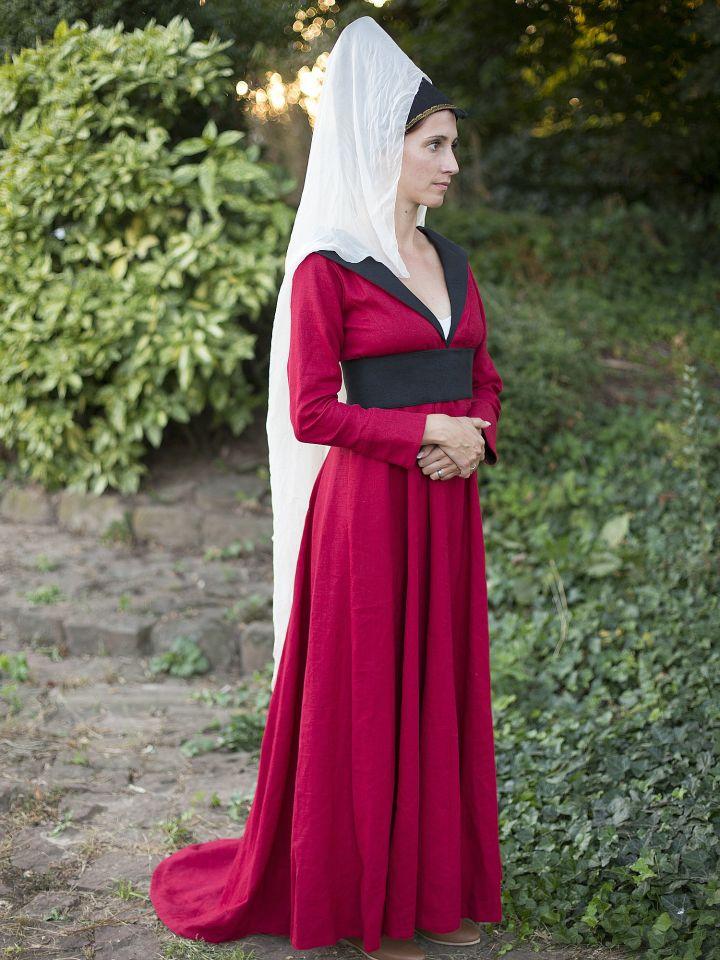 """Robe burgonde """"Marguerite d'York"""" 2"""