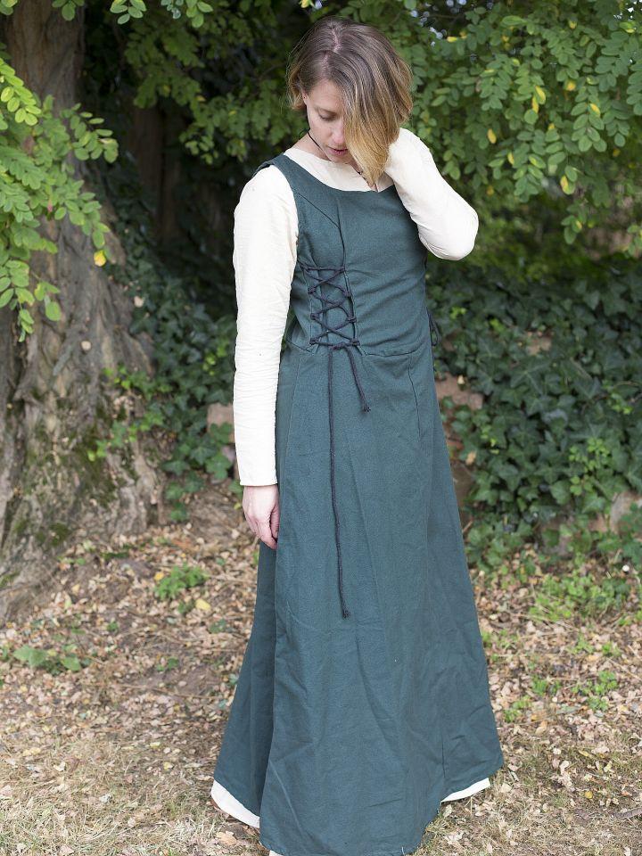 Robe médiévale sans manche en vert M 2