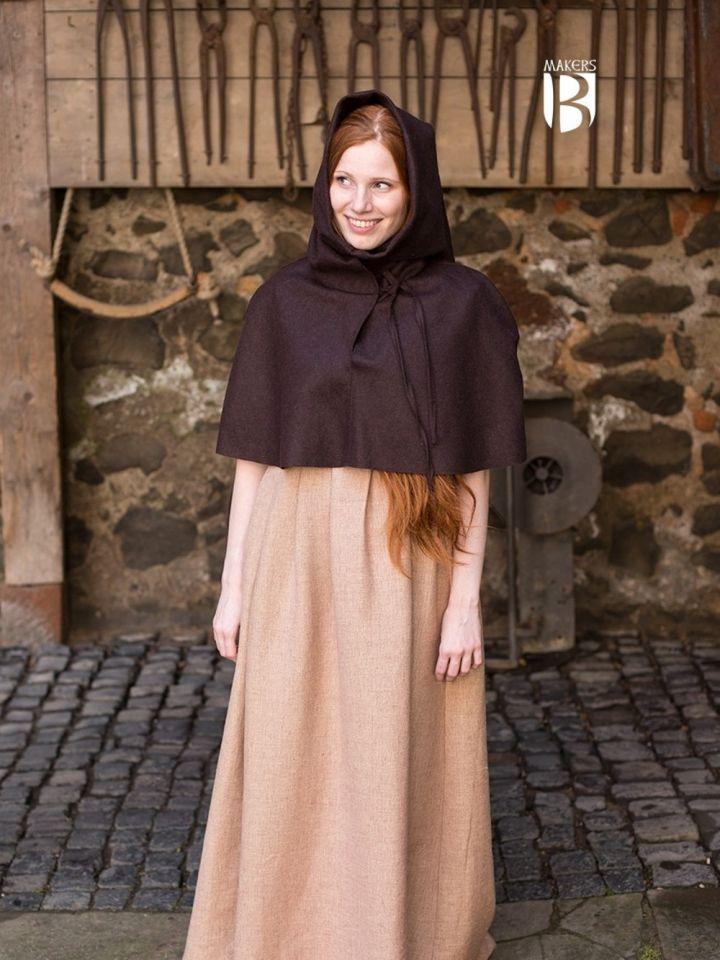 Capuchon médiéval en marron 2