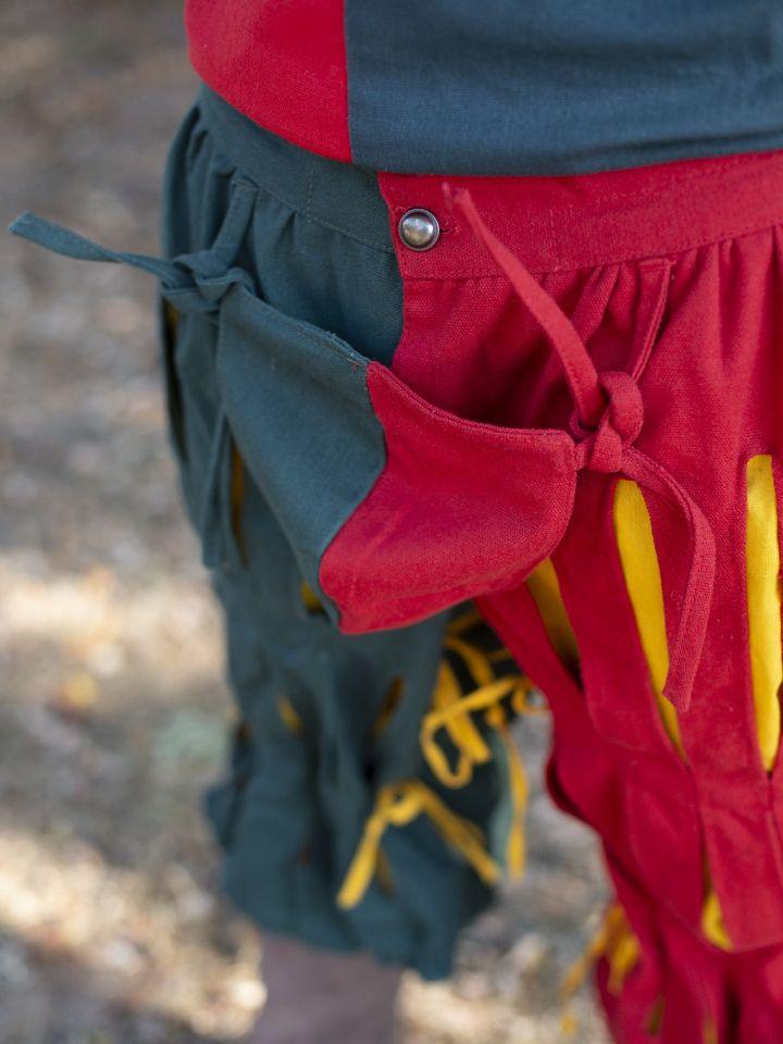 Pantalon fendu Lansquenet rouge et vert 2