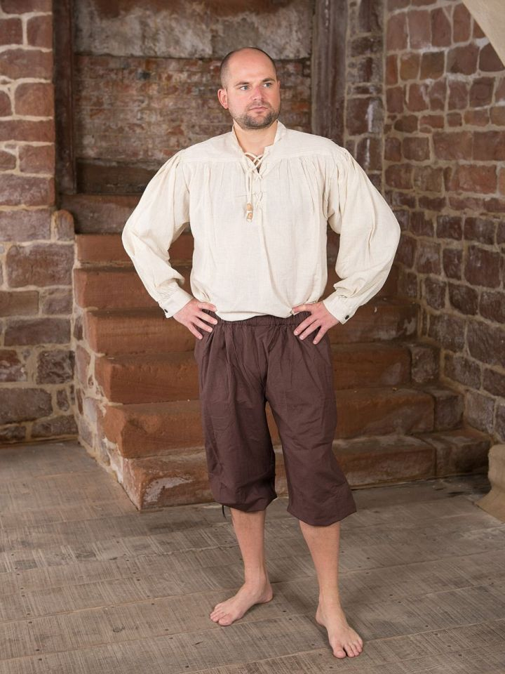 Pantalon médiéval court brun foncé L 2