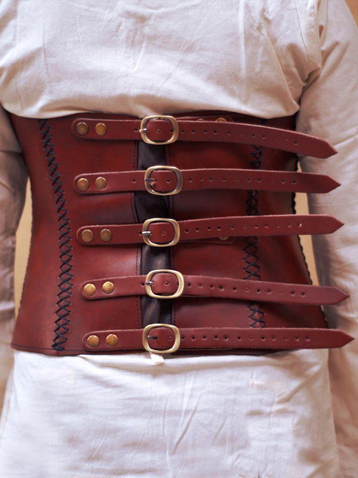Corset à boucles en cuir 2