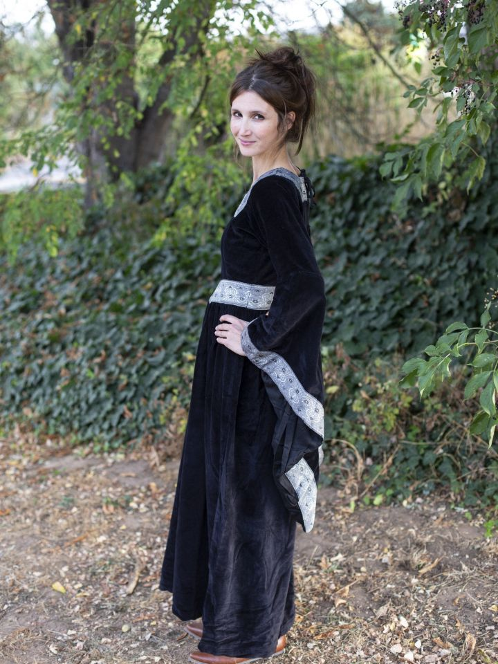 Robe médiévale Bourgogne, en noir 2