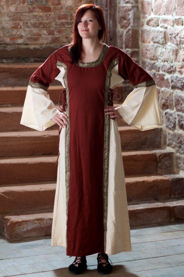 Robe médiévale bicolore à galons XXXL 2