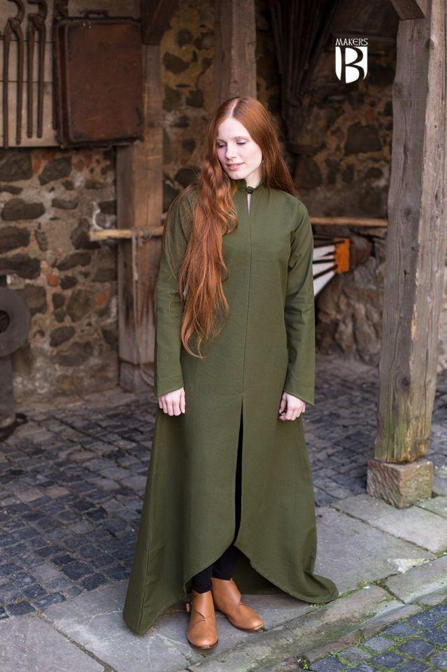 Longue robe Ranwen, vert olive 2