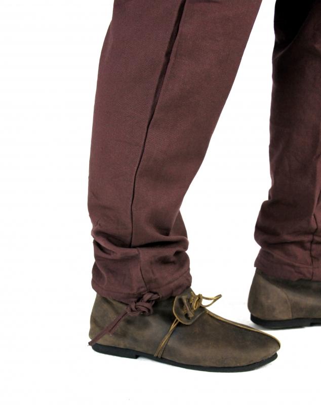 Pantalon médiéval serré aux chevilles, marron M 2
