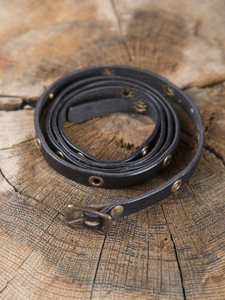 Bracelet ceinture en cuir noir 2