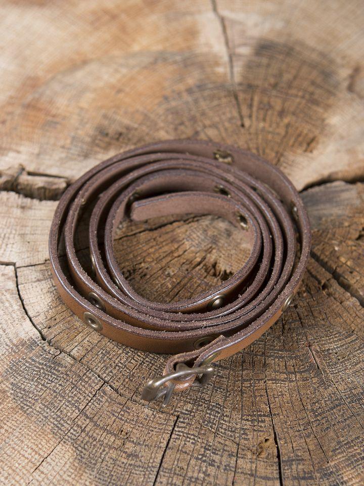 Bracelet ceinture en cuir marron 2