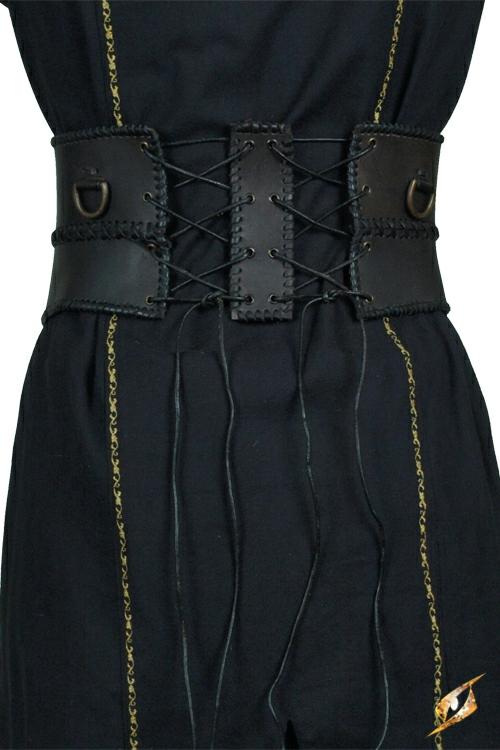 Ceinture corset en cuir, en noir 2