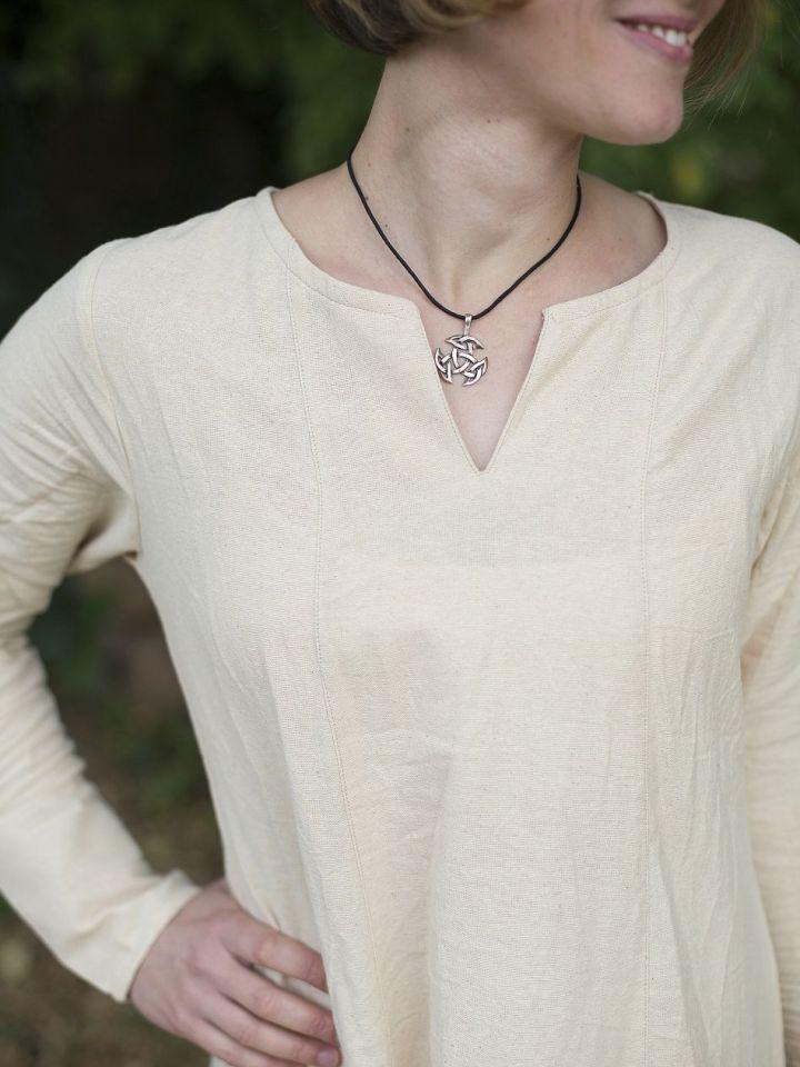Robe médiévale simple en blanc-écru XXXL 2