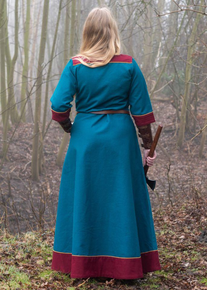 Robe médiévale Gesine bleu pétrole 2