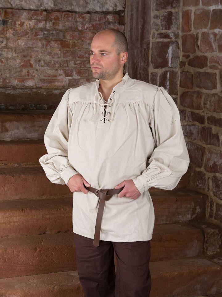 Chemise médiévale unisexe, blanc-écru L 2
