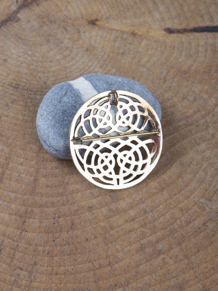 Grande fibule celtique en bronze 2