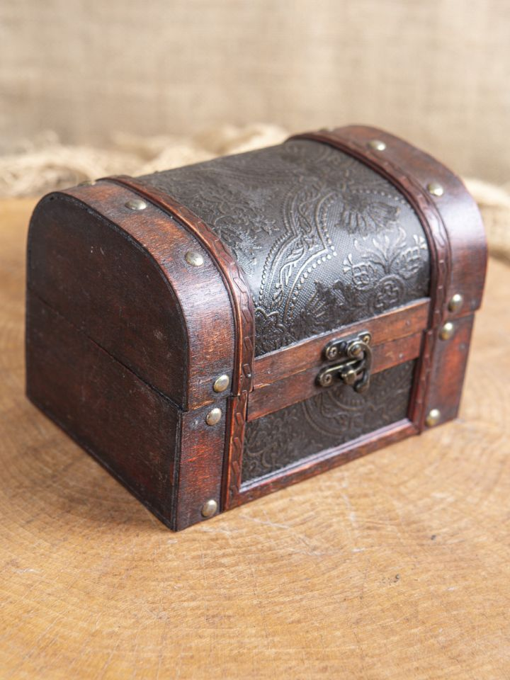Coffret en bois avec revêtement en cuir 2