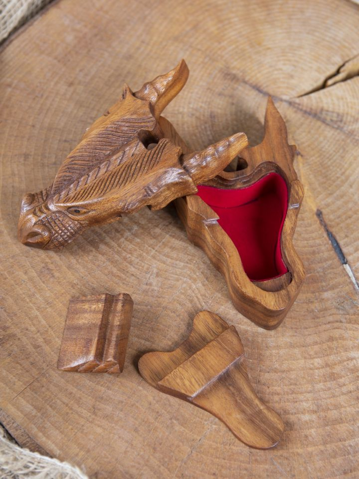 Boîte en bois tête de dragon 2