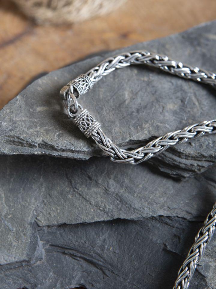 Collier viking tressé 55 cm 2