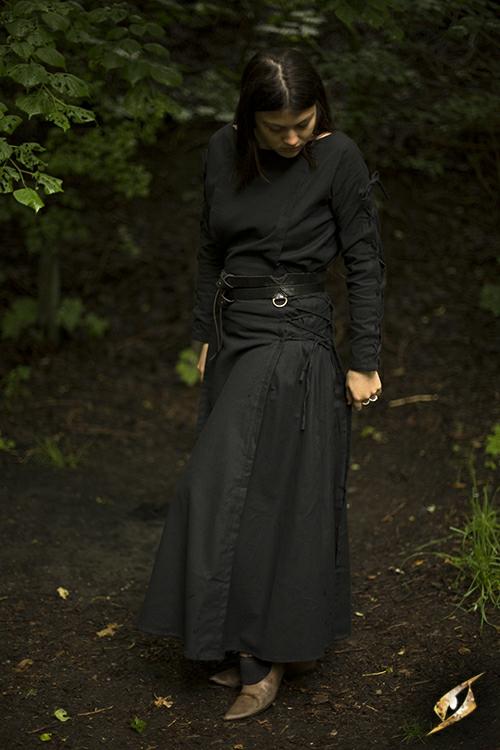 Robe à laçage en noir 2