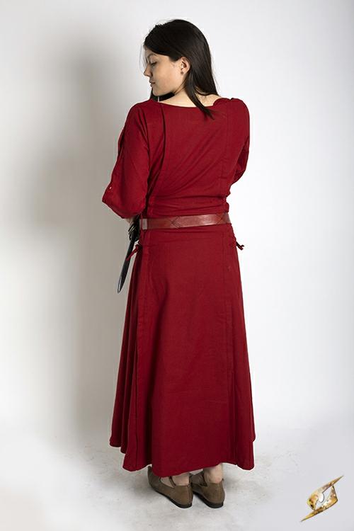 Robe à laçage en rouge 2