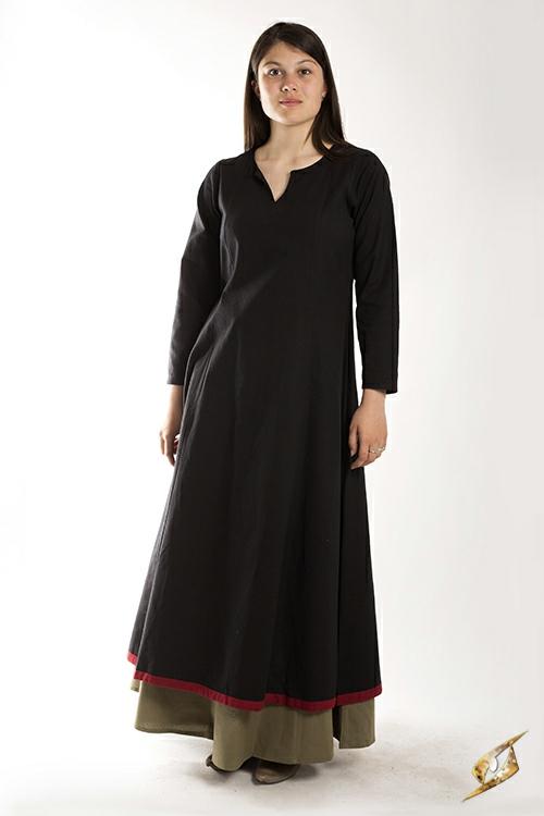Robe avec surpiqures en noir 2