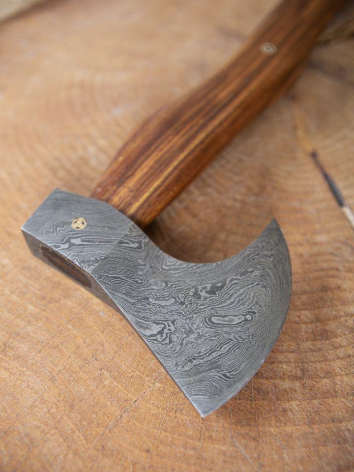 Hache viking avec lame damassée 2
