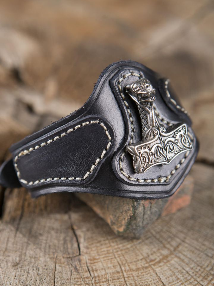 Bracelet en cuir Marteau de Thor Viking 2