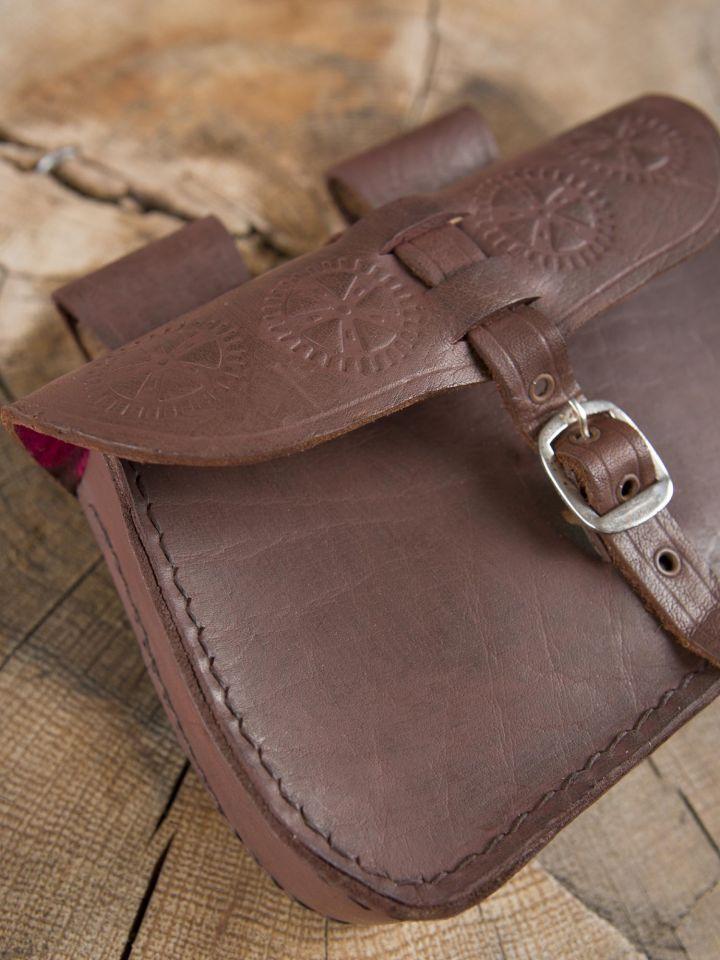 Sacoche de ceinture en cuir, marron 2