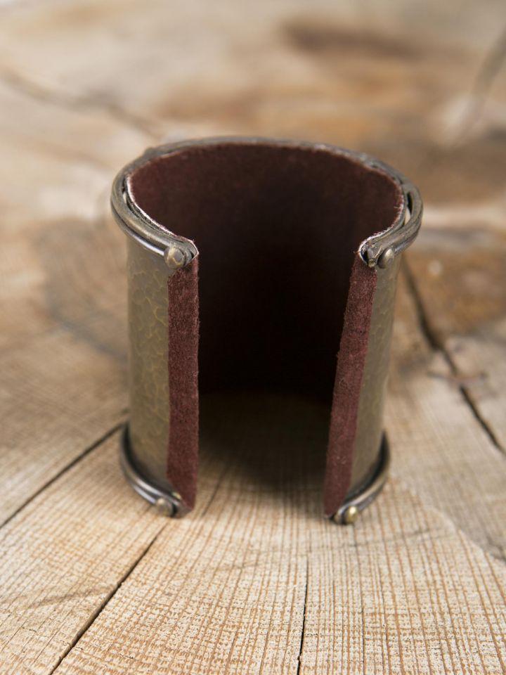 Bracelet manchette en laiton, motif Triskele 2