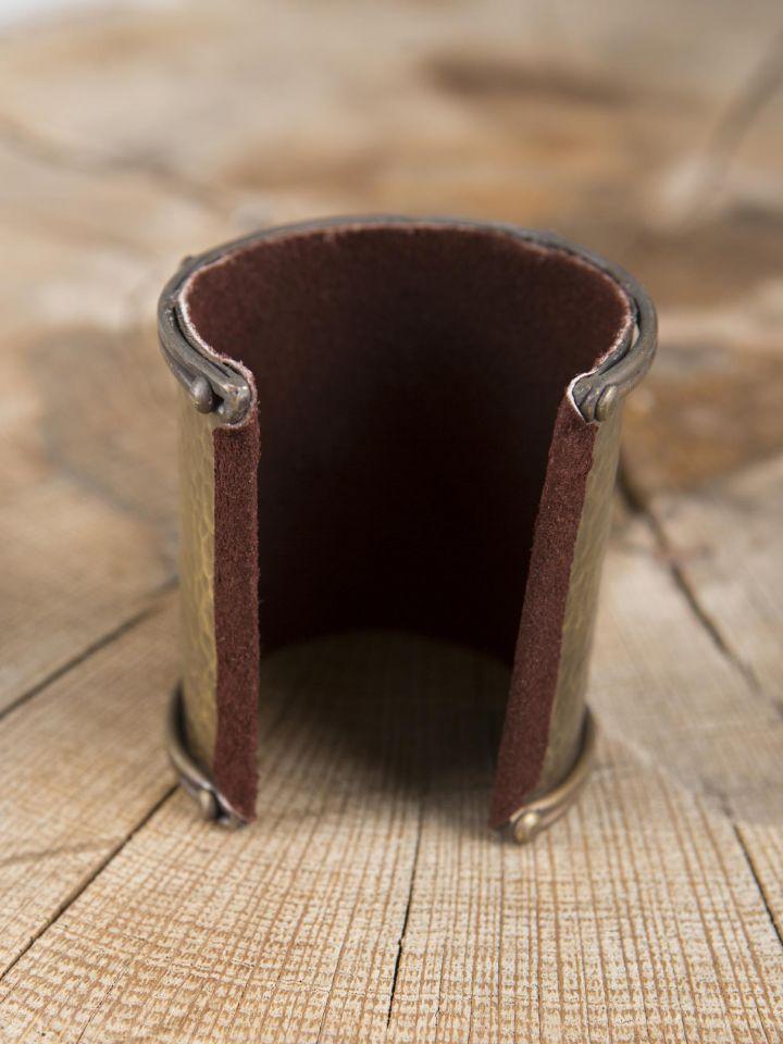 Bracelet manchette en laiton, motif  serpent 2