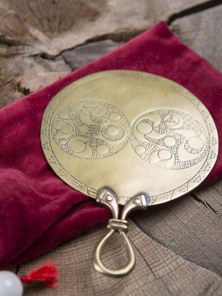 Miroir celtique en laiton , petit modèle 2
