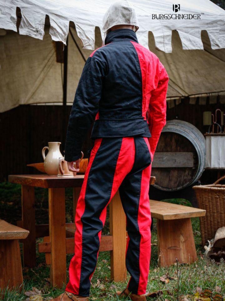 """Pantalon Lansquenet """"Imperialis"""" rouge et noir 2"""
