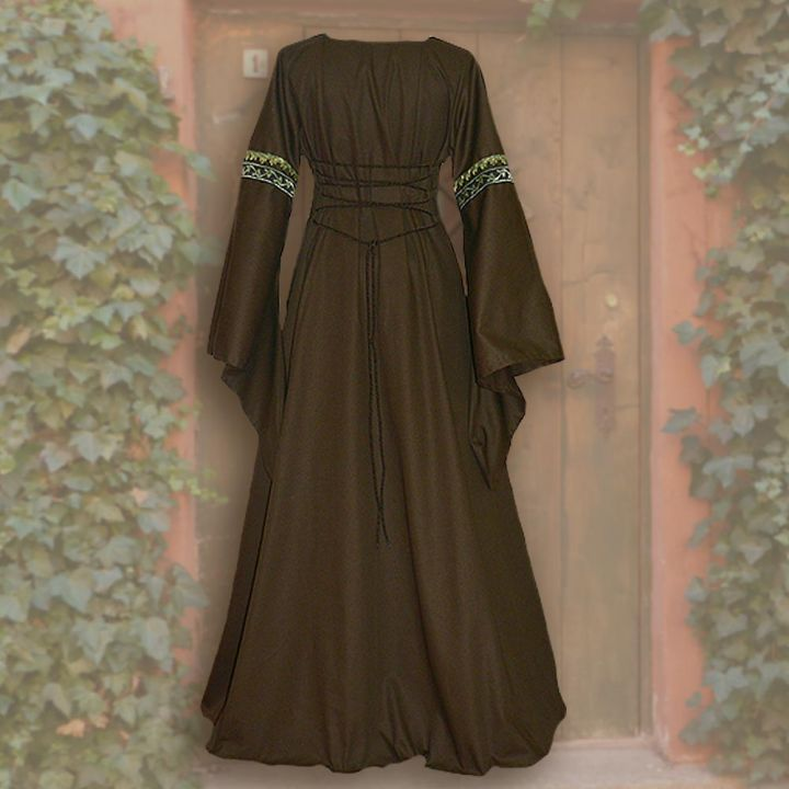 Robe Iris marron-sable 2