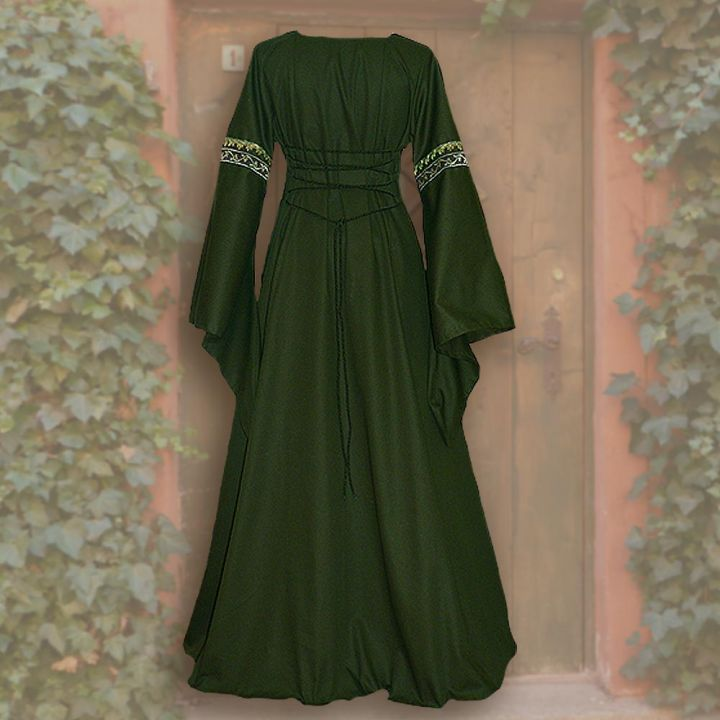 Robe Iris verte-sable 2
