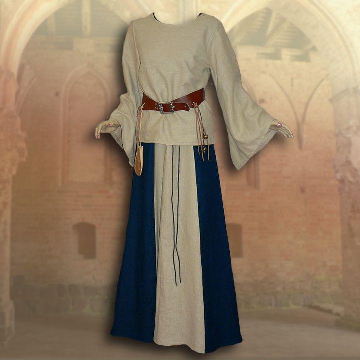 Ensemble médiéval Isabella en bleu 2