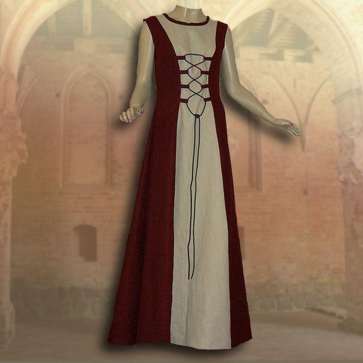 Ensemble médiéval Isabella en rouge 2