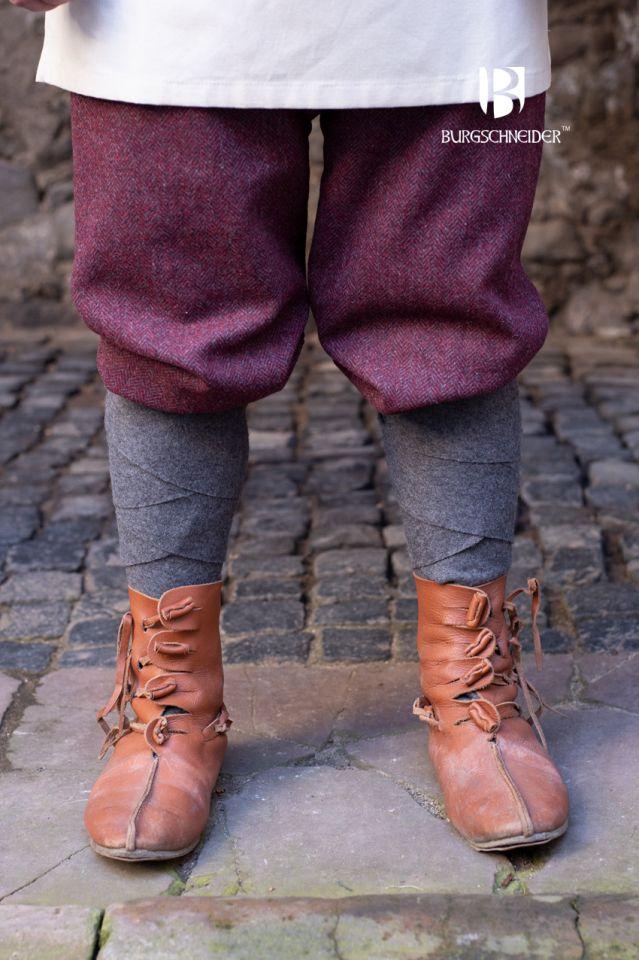 Culottes Ivar chinées bordeaux-gris 2