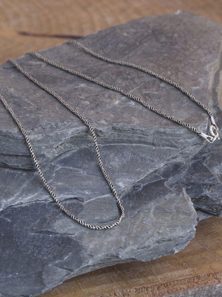 Collier mailles fines en argent 60 cm 2