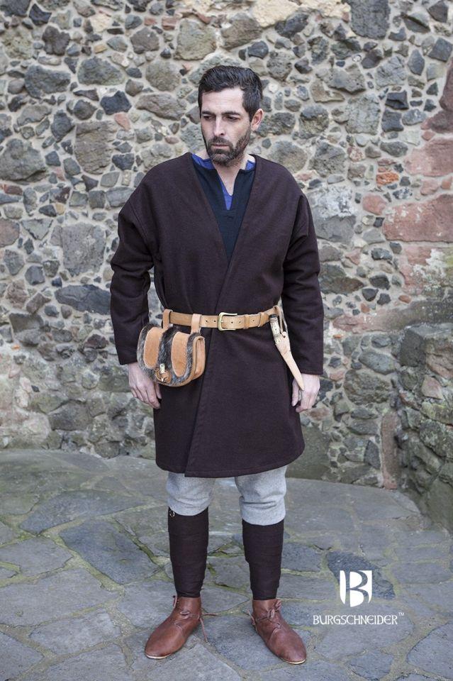 Veste croisée en laine en marron 2