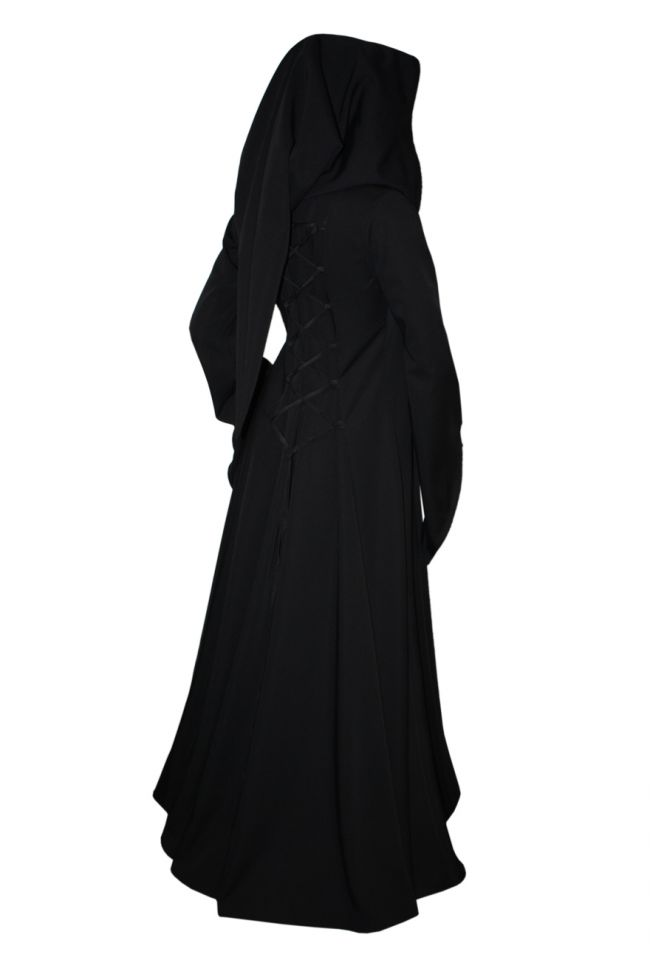 Robe Médiévale Julia en noir 2