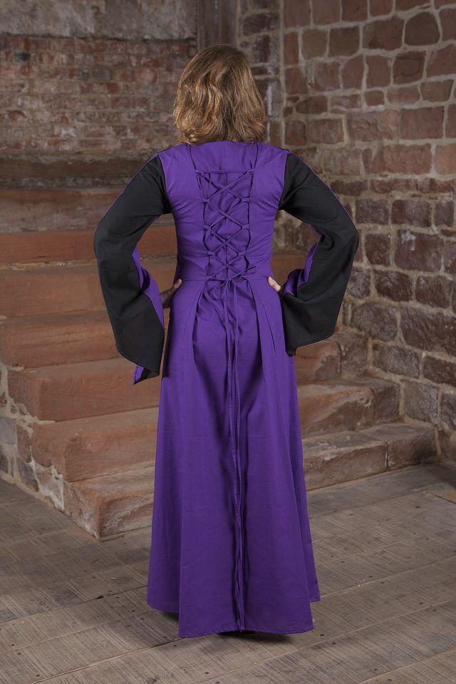 Robe médiévale Sonya en lila et noir 2