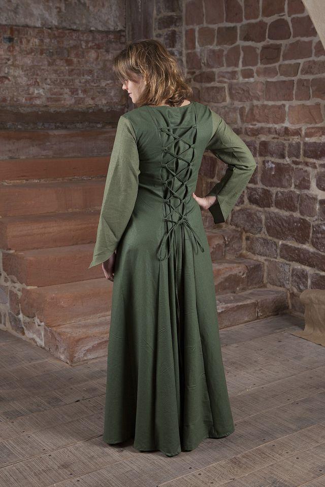 Robe médiévale Larea en vert 2
