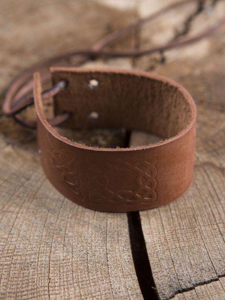Bracelet motifs Celtiques, en marron 2