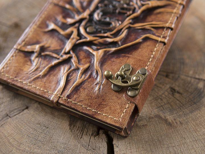 Carnet en cuir motif dragon 2