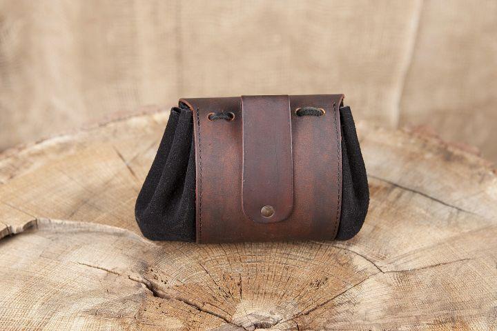 Petit sac de ceinture en cuir, motif noeud celtique III 2
