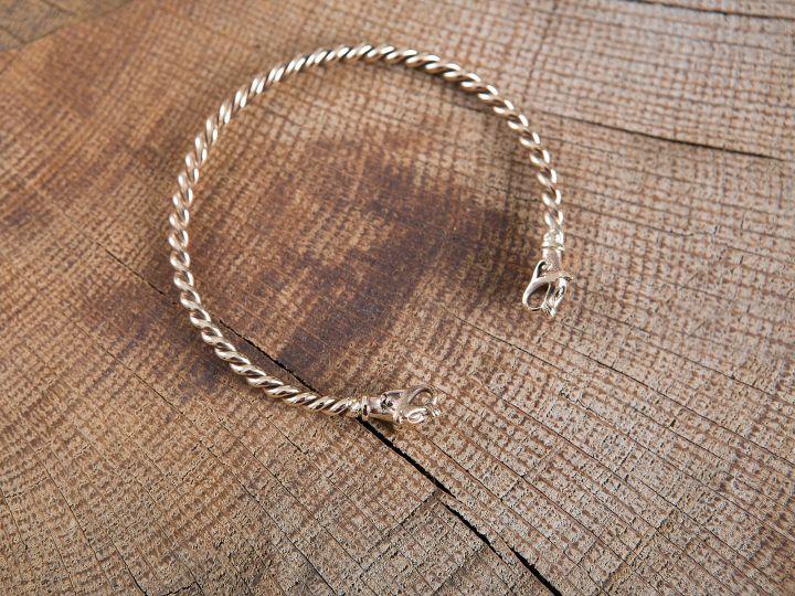 Bracelet Viking à Tête de loup 4mm 2