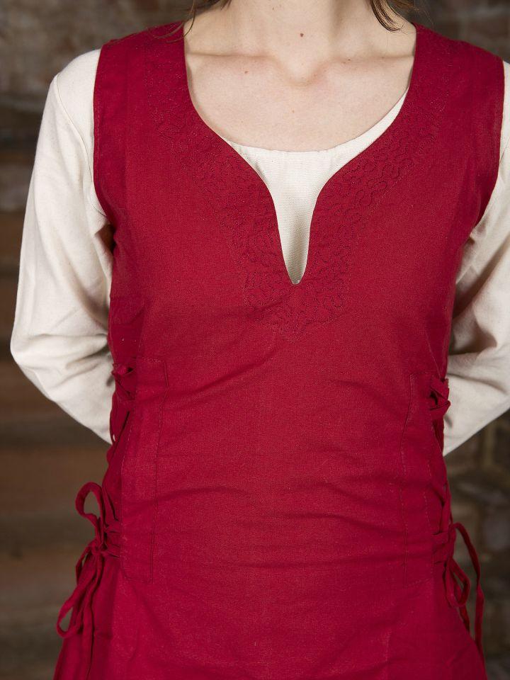 Surcot en coton épais rouge L 2