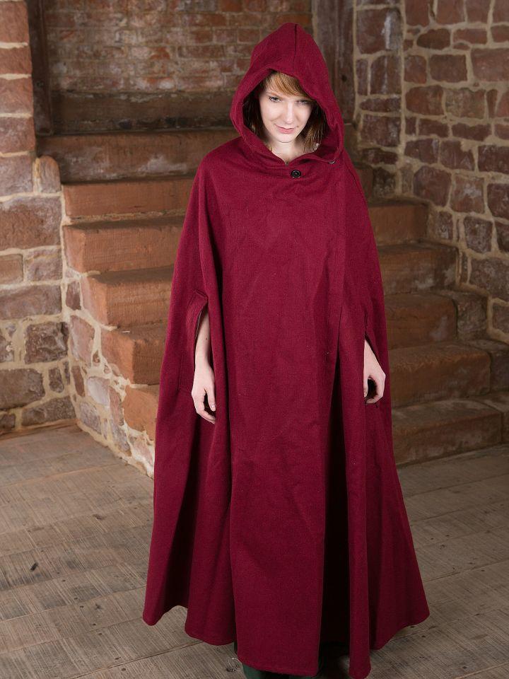Manteau en laine Allan, en rouge 2