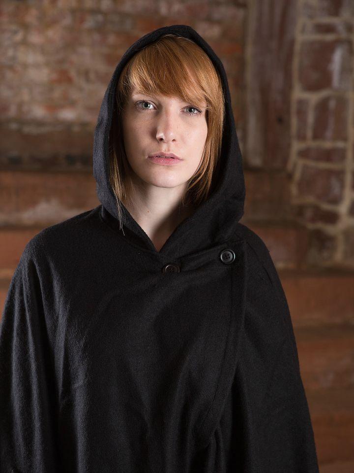 Manteau en laine Allan, en noir 2