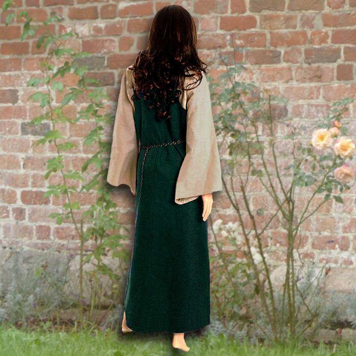 Ensemble robe médiévale verte et blouse Othilie 2
