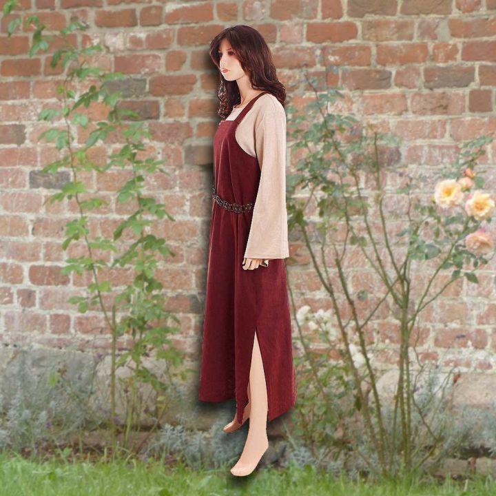 Ensemble robe médiévale rouge et blouse Othilie 2