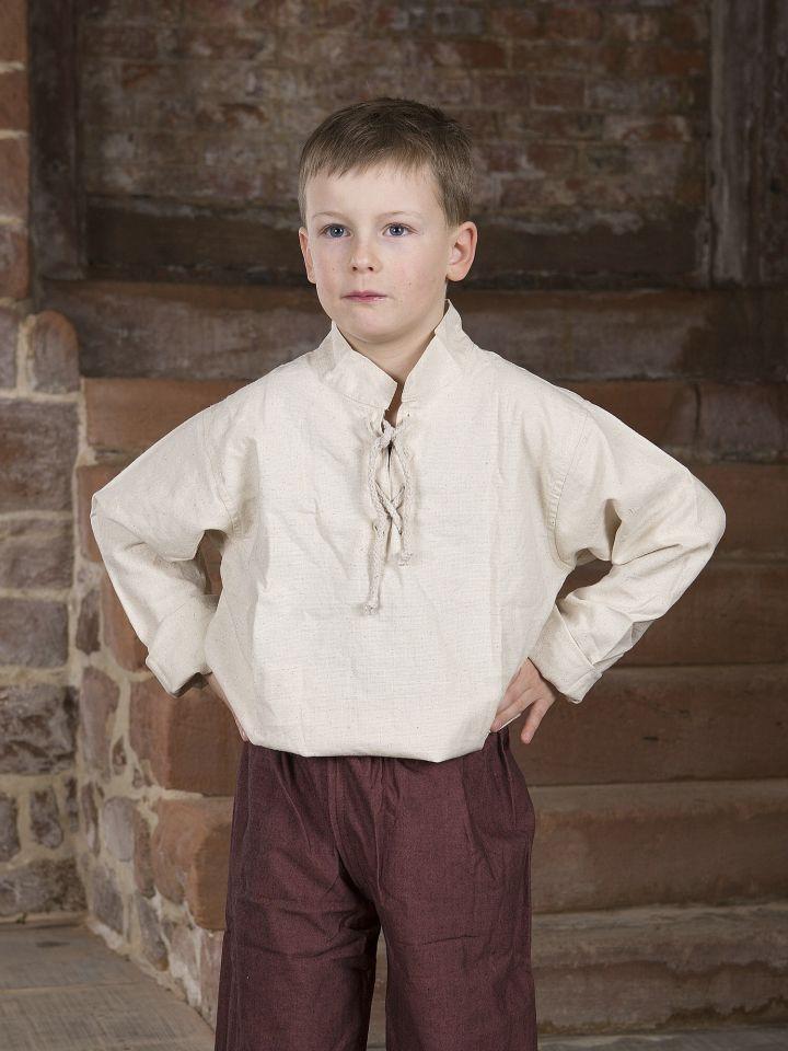 Chemise médiévale pour enfant blanc-écru 2